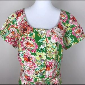 Green and Pink Cold Water Creek Dress